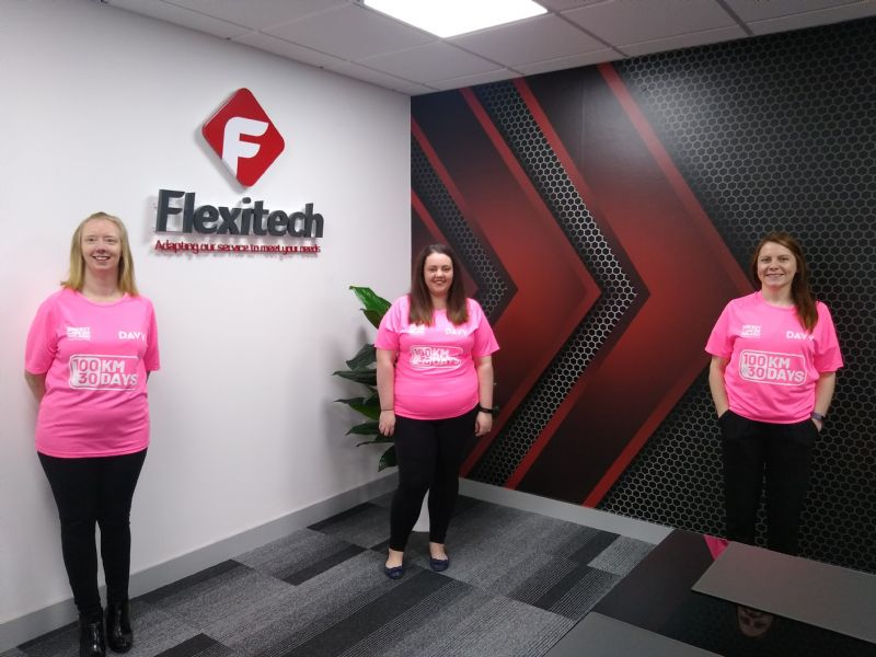 Flexitech staff completes '100km in 30 days'